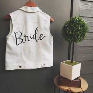 • Bride Custom Calligraphy vest